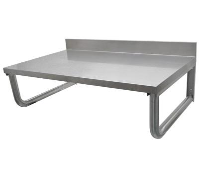Table inox suspendue et plan de travail inox cogenim for Table de travail cuisine inox